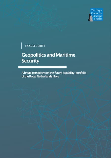 Geopolitics and Maritime Security