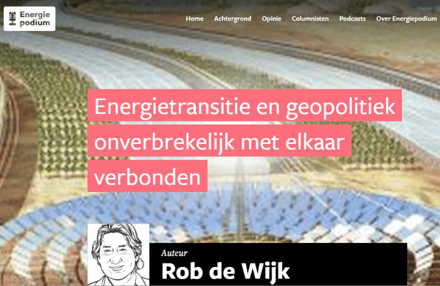 Column RdW Energiepodium